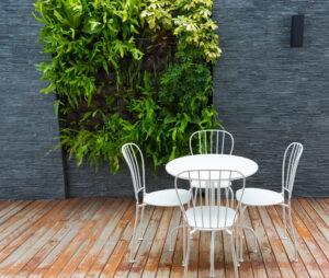 white patio furniture