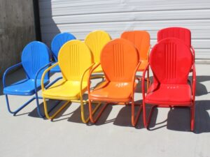 Colorful Powder Coated Patio Chairs